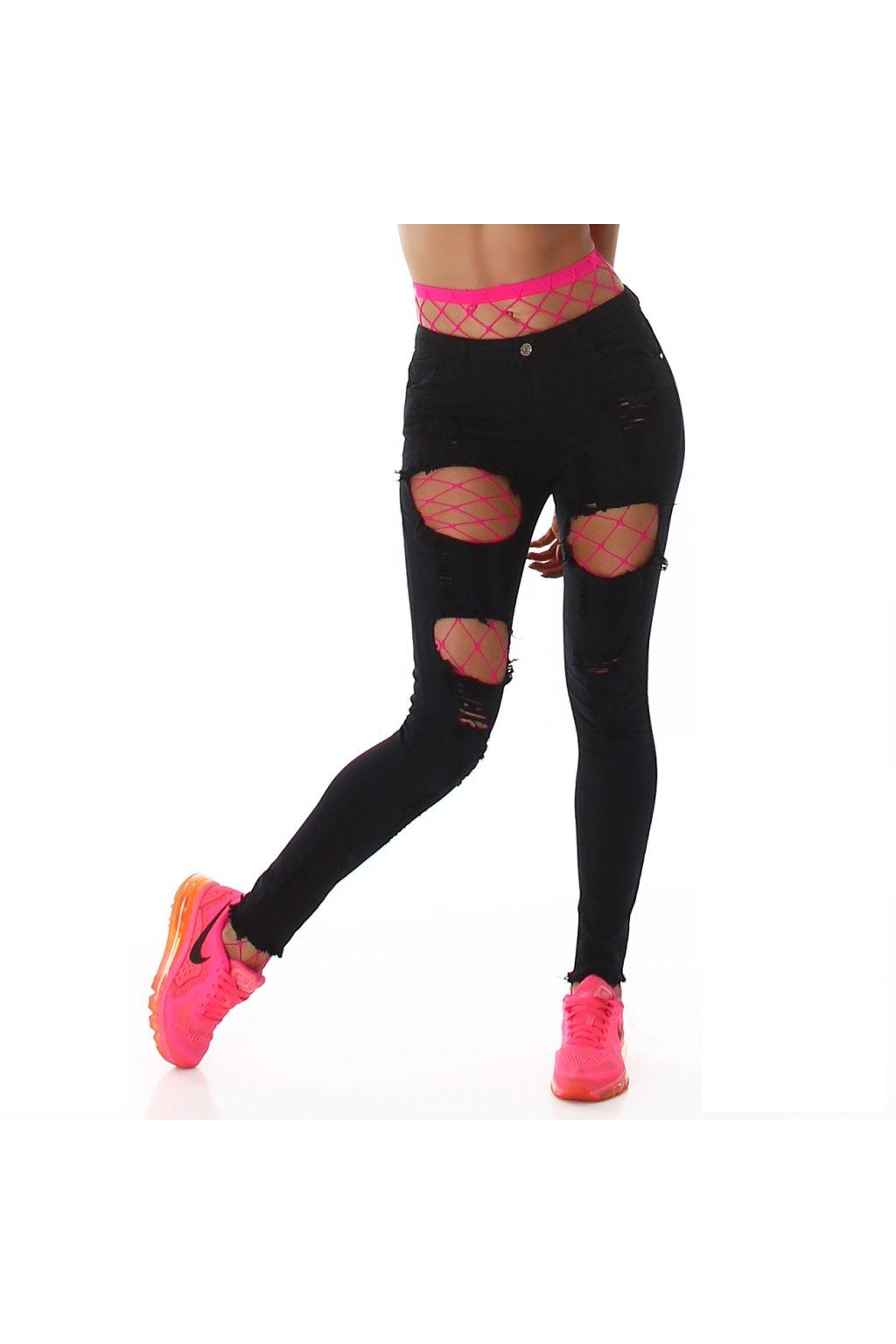 Černé trhané skinny jeans Jela London - Bestmoda 548f24bafe