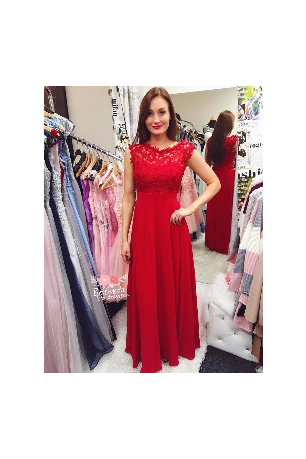 červené šaty eva lola