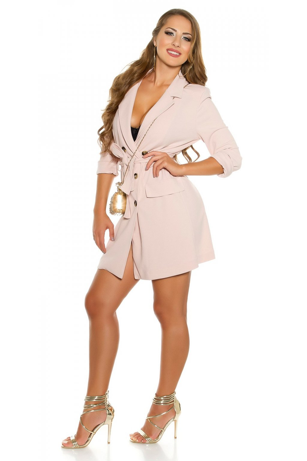 ... KouCla long sleeve mini dress buttoned belt Color ANTIQUEPINK Size  Einheitsgroesse 0000BL78891 ALTROSA 14. Nová kolekce košilových šatů ... 4f2df097bf
