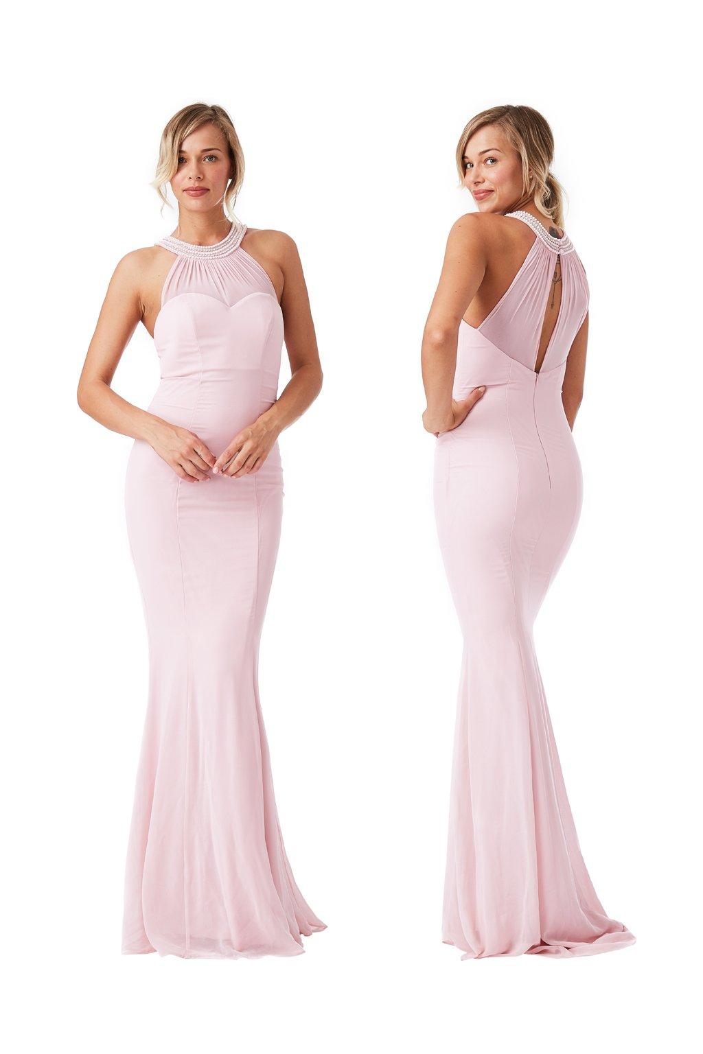 2e95c6dcccd Pastelové společenské šaty Goddiva - Bestmoda