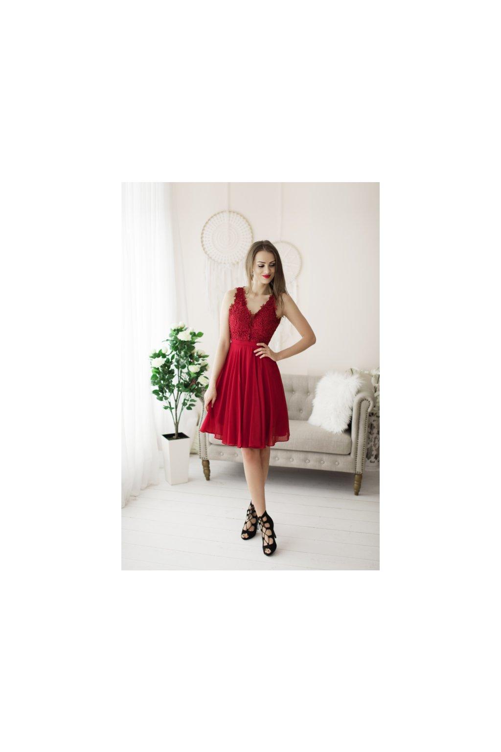 červené společenské šaty evalola cf0731fdbf