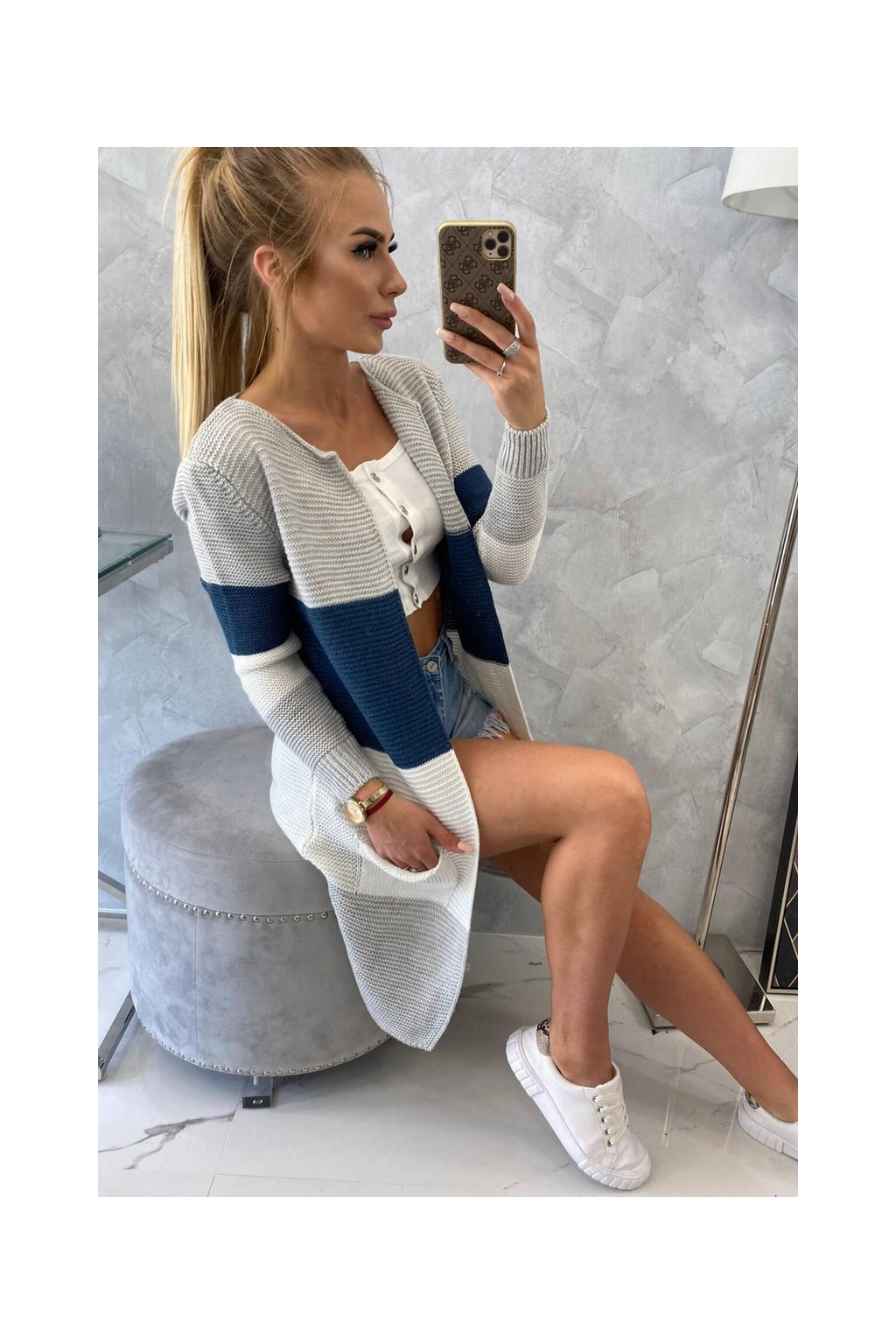 cardigan blue grey