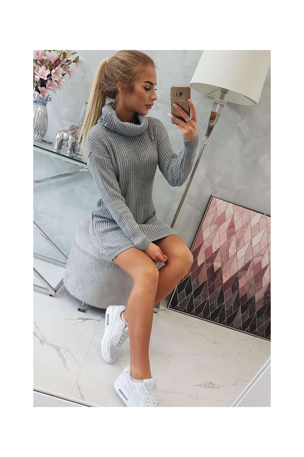 eng pl Sweater with golf gray 19313 7