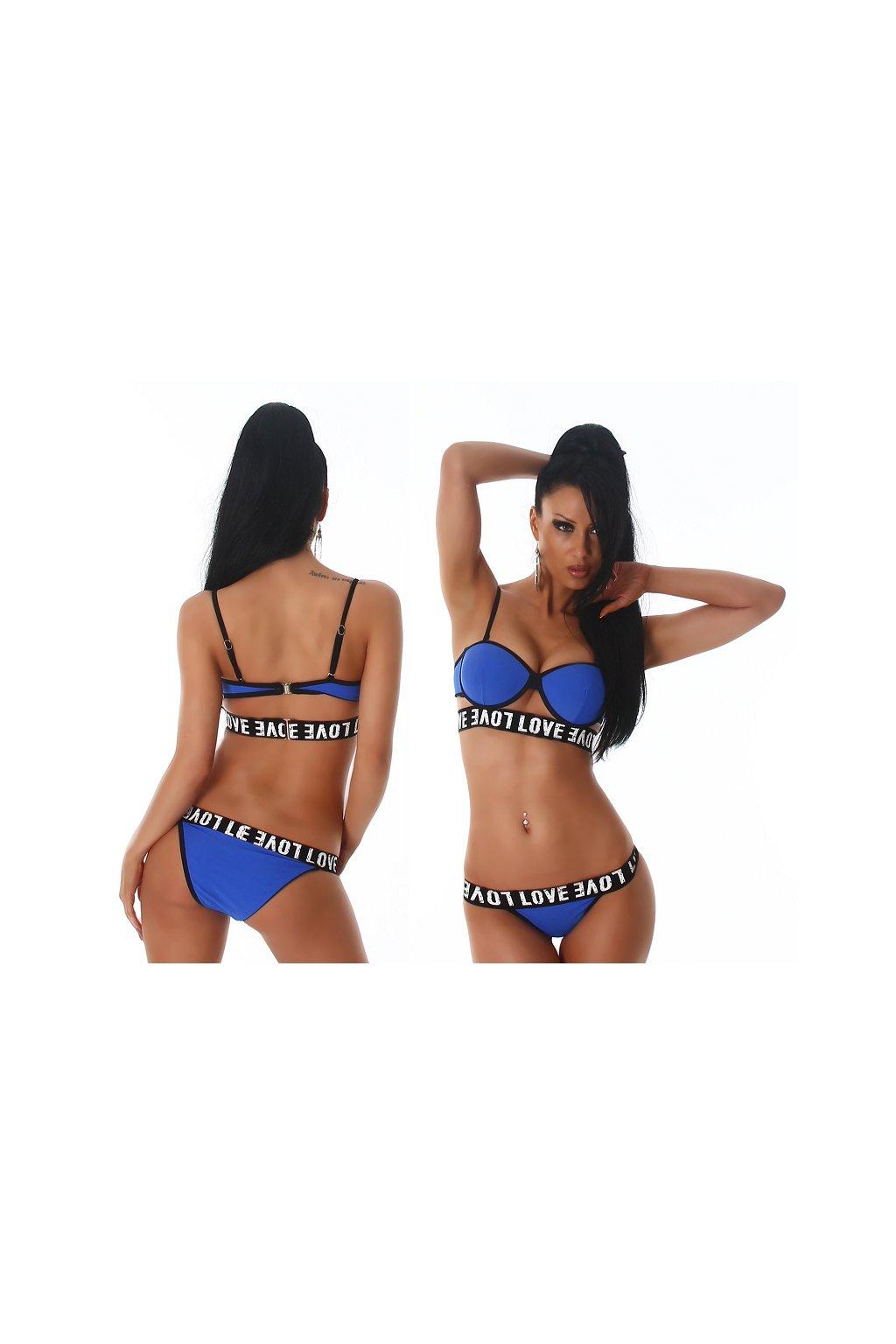 modre love · Dvoudílné extravagantní plavky LOVE 8795a57dec