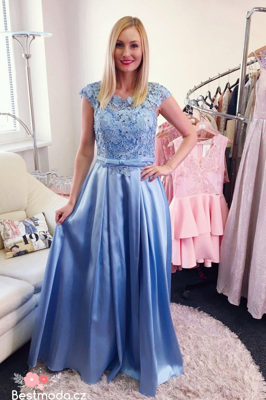 Společenské šaty Christine Icy Blue c468a9fe5c