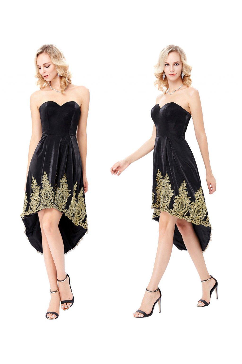 9741b40b84a Černo-zlaté společenské šaty Grace Karin