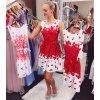 Květované šaty s páskem, SKLADEM