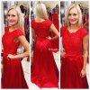Červené společenské šaty Christine, k DODÁNÍ IHNED