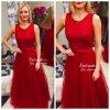 Červené společenské šaty Christine, SKLADEM