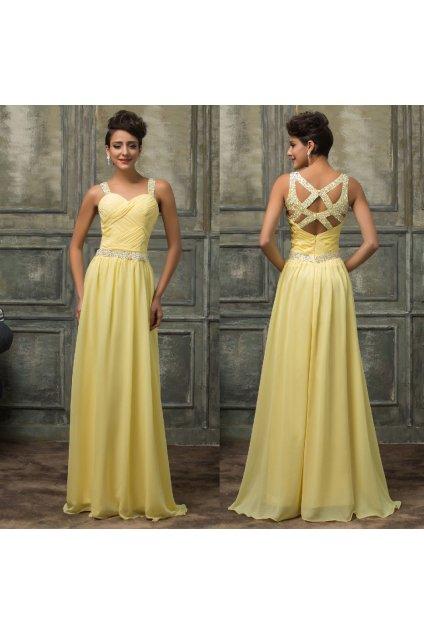 Žluté společenské šaty GK, SKLADEM