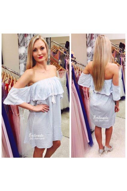 Modro-bílé letní šaty, SKLADEM