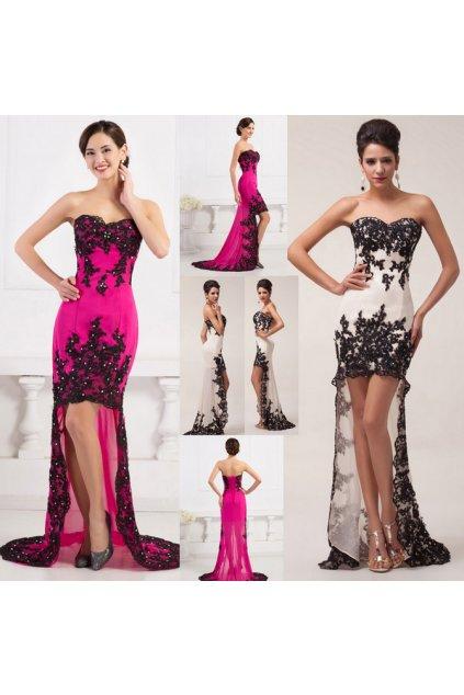 * 0000i LUXUSNÍ společenské šaty s krajkou, velikosti 32,34,36,38,40,42,44,46