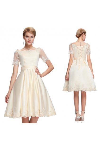 Champagne koktejlové šaty Grace Karin, SKLADEM