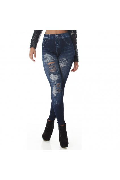 Designerské trhané jeans tregginy SKLADEM