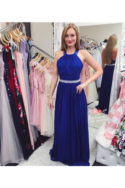 Královsky modré společenské šaty Goddiva