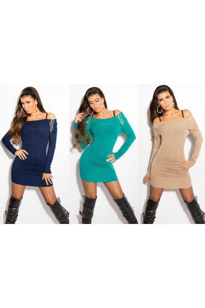 * 0000a Luxusní svetřík / mini šaty, tunika, 12 barev, RYCHLÉ DODÁNÍ