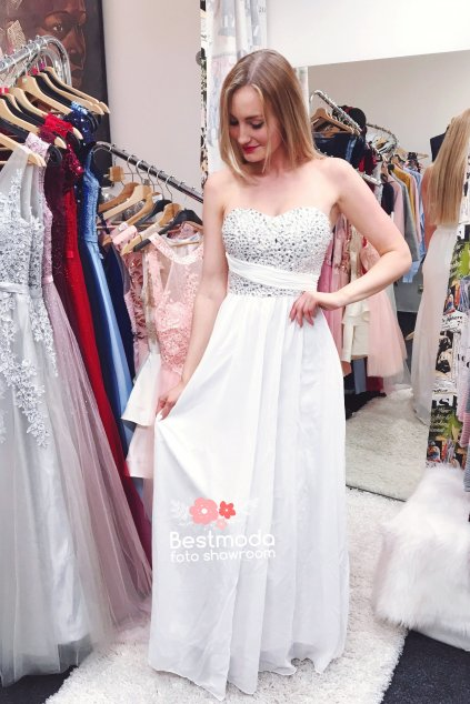 Bílé společenské / svatební šaty Eva Lola