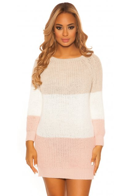 ooKouCla knit dress with stripes Color CAPPUCCINO Size Einheitsgroesse 0000PU117 CAPPUCCINO 12