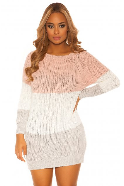 ooKouCla knit dress with stripes Color PINK Size Einheitsgroesse 0000PU117 ROSA 41