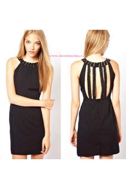 * ASOS - Černé šaty se zdobením, k DODÁNÍ IHNED