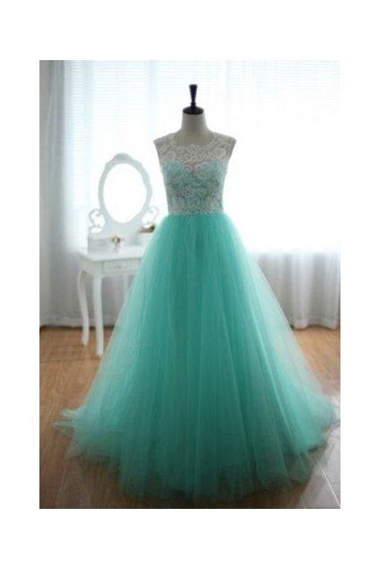 * 0000 Luxusní společenské šaty s krajkovou aplikací, NA MÍRU