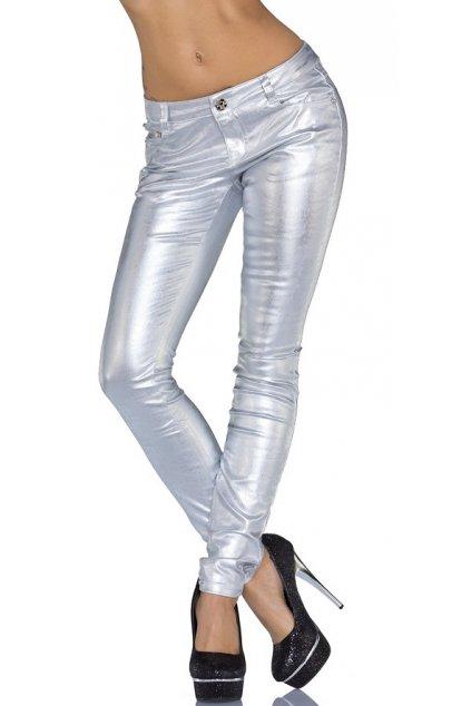* 0000 Luxusní stříbrné kalhoty, k dodání IHNED