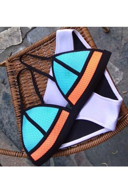 Barevné neoprenové plavky, S, M, L