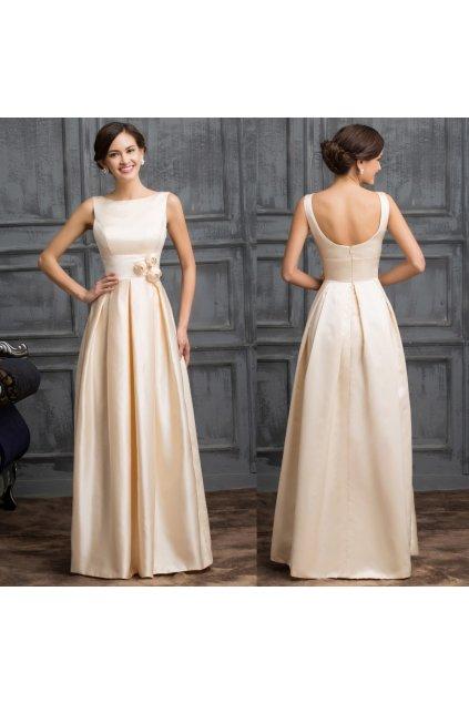 Saténové společenské šaty, 32 - 44