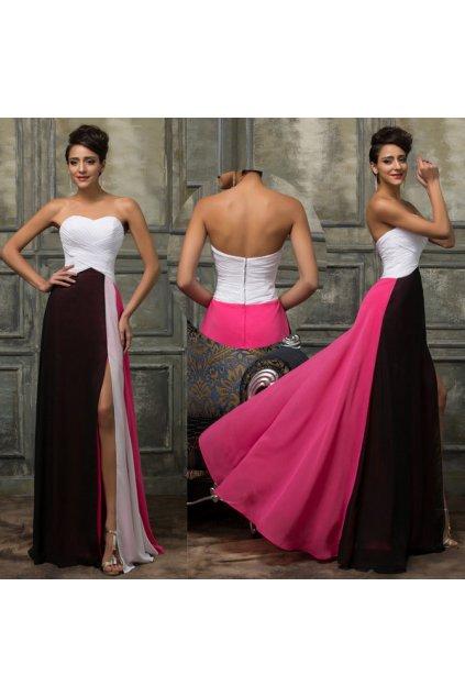 Barevné společenské šaty, 32 - 44