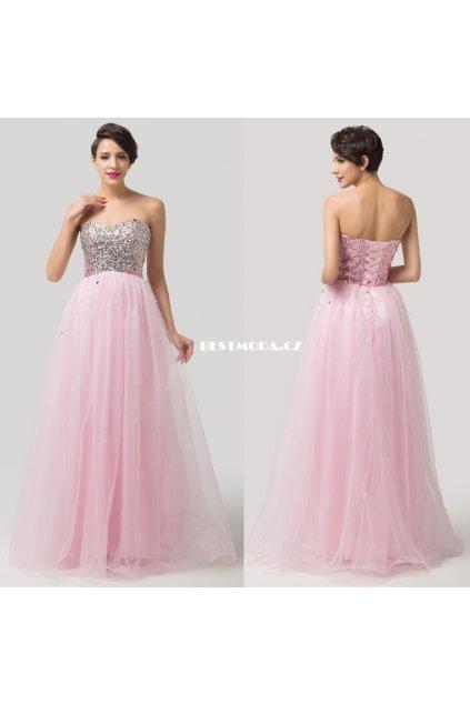 Nadýchané plesové šaty, velikosti 32 - 44