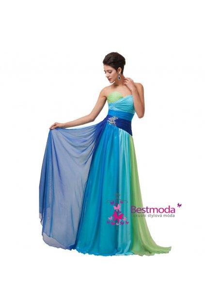 Duhové společenské šaty, velikosti 32 - 44