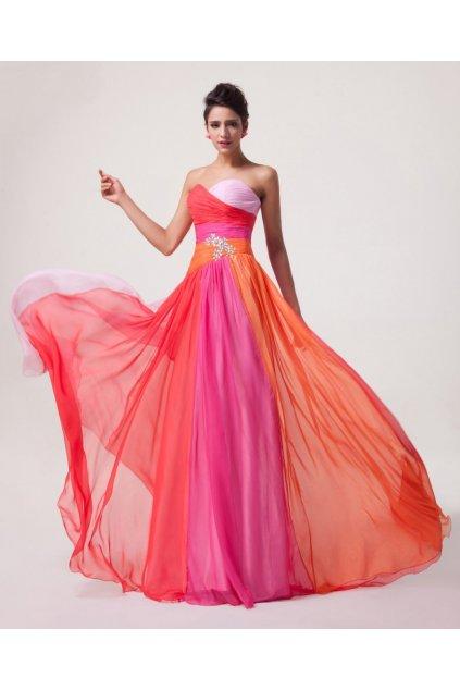 BAREVNÉ společenské šaty, velikosti 32 - 44