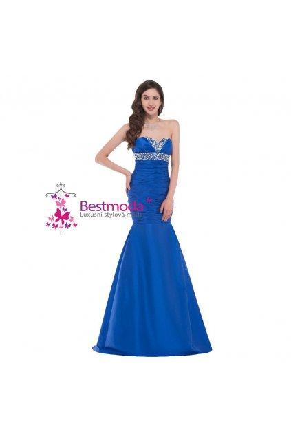 Modré společenské šaty, velikosti, 32 - 42
