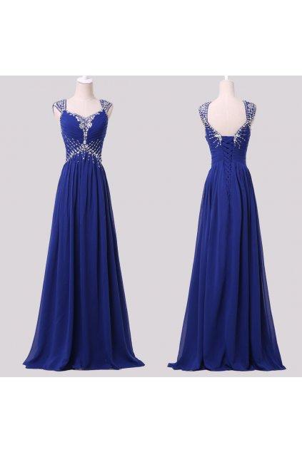 Tmavě modré společenské šaty, 32 - 44