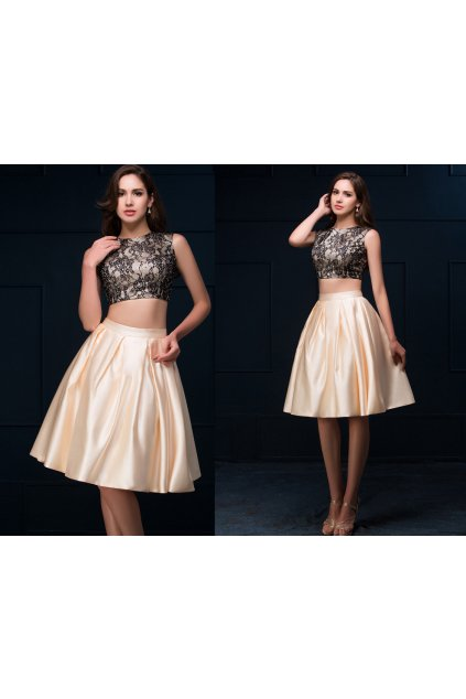 Dvoudílné plesové šaty, velikosti 32 - 44