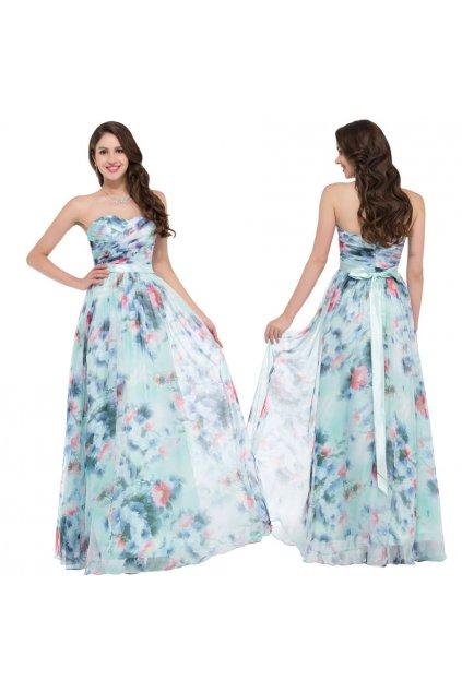 Květované společenské šaty, 32 - 44, RYCHLÉ DODÁNÍ
