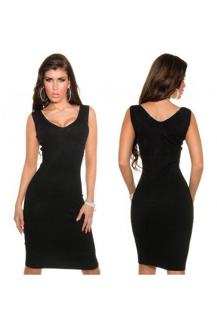 Černé šaty se štrasem, S, M, L, RYCHLÉ DODÁNÍ