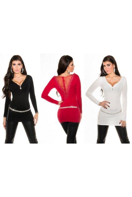 Designerské svetříky s krajkou, 6 barev, RYCHLÉ DODÁNÍ