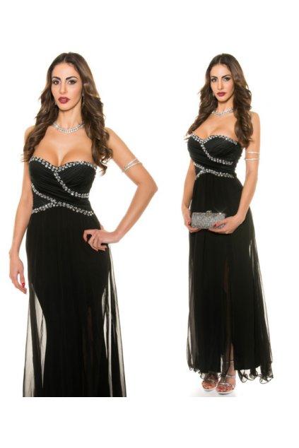 Černé společenské šaty, S - XL, RYCHLÉ DODÁNÍ