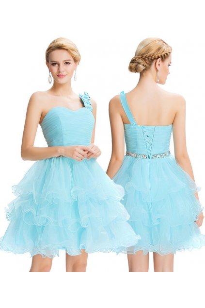Modré koktejlové šaty, 32 - 44, RYCHLÉ DODÁNÍ
