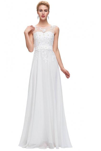 Bílé společenské / svatební šaty, 32 - 44