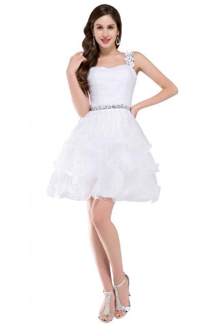 Bílé koktejlové šaty, 32 - 44, RYCHLÉ DODÁNÍ
