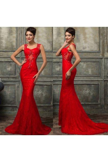 Červené společenské šaty, k DODÁNÍ IHNED