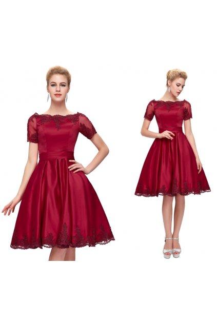 Červené koktejlové šaty Grace Karin, k DODÁNÍ IHNED