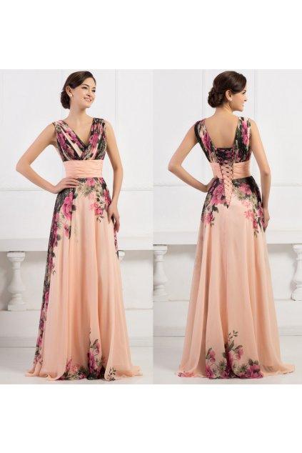 Květované společenské šaty, k DODÁNÍ IHNED