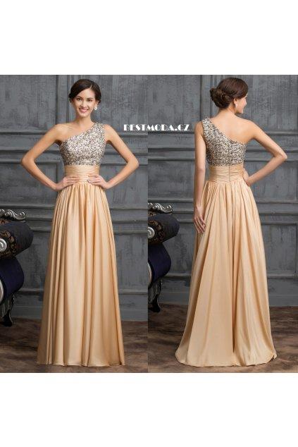 Společenské plesové šaty GOLDEN, SKLADEM