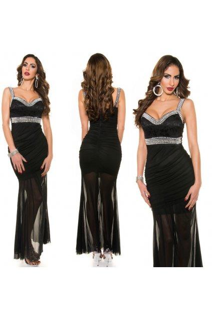 Černé společenské šaty, S, M, L, XL, RYCHLÉ DODÁNÍ