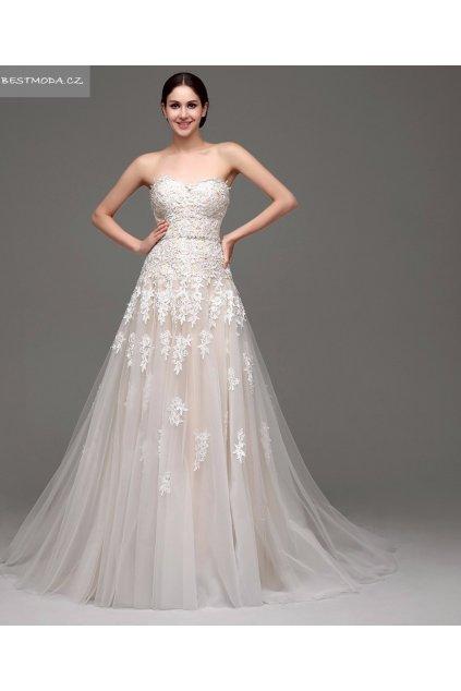 Krajkové svatební šaty, 32 - 46 nebo NA MÍRU