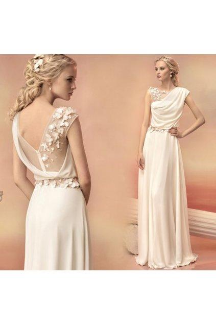 Krémové šaty GREECE, NA MÍRU