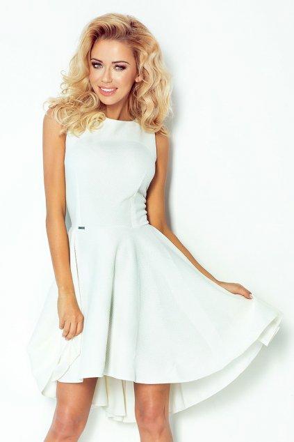 Společenské BÍLÉ šaty SAF, S, M, L, XL